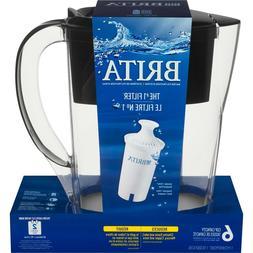 Brita Space Saver Water Filter Pitcher-Black-6 Cup