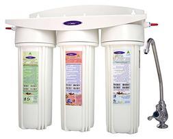 Crystal Quest Undersink Replaceable Triple Fluoride Water Fi
