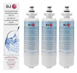 LG LT700P Refrigerator Water Filter, Standard, 3 Pack, White