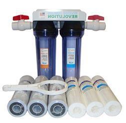 "Reverse Osmosis Revolution 3/4"" Port Dual Stage Whole House"