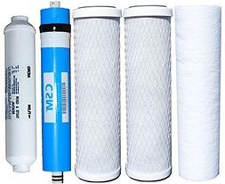 Watts Reverse Osmosis Replacement Filter Set 5 pcs w/ CSM 50
