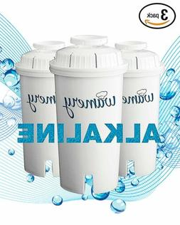 Alkaline Water Filter Replacement Pack x3. Fits Wamery & Bri