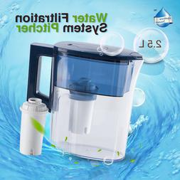 Alkaline Water Pitcher - 2.5L Pure Healthy Mineral Water Fil