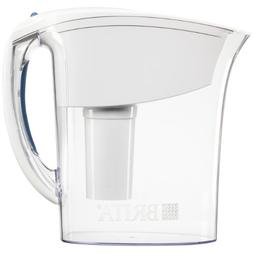 Brita Atlantis Water Filter Pitcher, White, 6 Cup