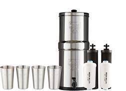 Boroux Bundle Includes: Travel Berkey Water Filter System w/
