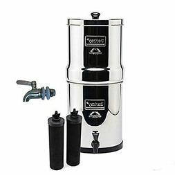 Big Berkey Water Filter 2 Black Filters + Stainless Steel Sp