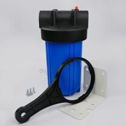 "Big Blue 10"" Whole House Water Filter System  + Mounting Bra"