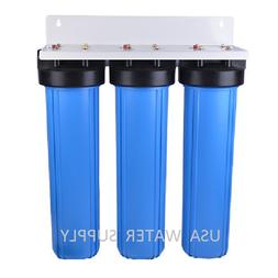 """BIG BLUE 20"""" WATER FILTER SYSTEM 1"""" TRIPLE WHOLE HOUSE/COMME"""