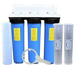 """Big Blue 3 Stage Whole House System Water Filter 20"""" Sedimen"""