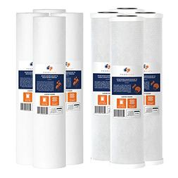 "Set of 8 AquaBoon 20"" Big Blue Whole House FIlter Cartridges"