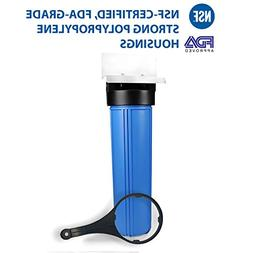 """Big Blue 20"""" Whole House Water Filter System with Pressure R"""