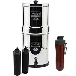 Big Berkey Stainless Steel Water Filtration System w/ 2 Blac