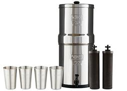 Bundle Includes Big Berkey Water Filter with 2 Black Purifie