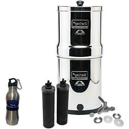 Big Berkey Water Filter Stainless Steel Bundle: 2 Black Filt