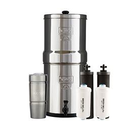 Bundle Includes: Big Berkey Water Filter System with 2 Black