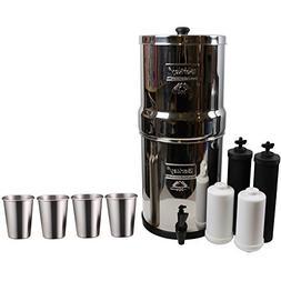 Berkey Big Water Filter System  w/2 Black Purifier Filters a