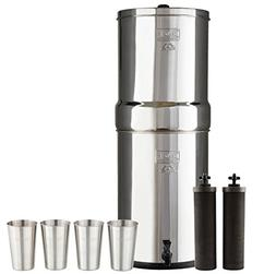 Bundle Includes Crown Berkey Water Filter System with 2 Blac