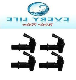 Black Spigot 4-pack, Faucet, Beverage Dispenser, Water Crock