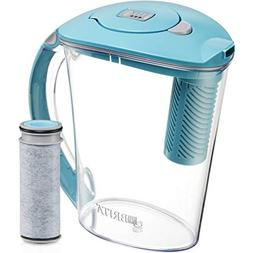 Brita 10 Cup Stream Filter as You Pour Water Pitcher with 1