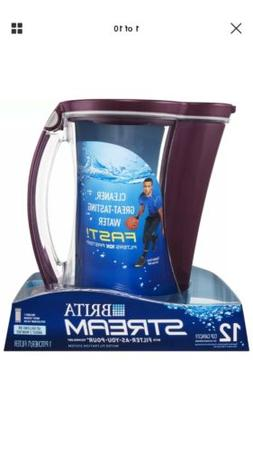 Brita Large 12 Cup Stream Filter As You Pour Water Pitcher w