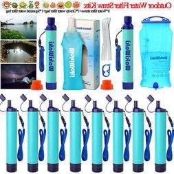 Camping Hiking Emergency Portable Purifier Water Filter Surv