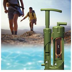 Camping Hiking Emergency Survival Water Filter Purifier Pump