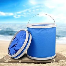 Aochol Collapsible Bucket, Portable Folding Durable Pop Up B