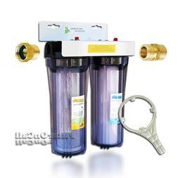 Custom Build 2 Stage RV Water Filter System Slim Portable 3/