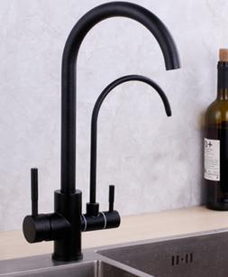 Deck Mounted Hot & Cold Kitchen Faucet Mixer Drinking Water