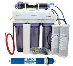 DI Reverse Osmosis Deionization System 5 Stage RO 100 GPD Aq