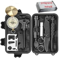 Professional Emergency Survival Kit 11 in 1 Outdoor Survival