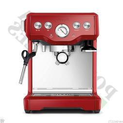 Breville Espresso  Cappucino Machine Infuser Cranberry Red