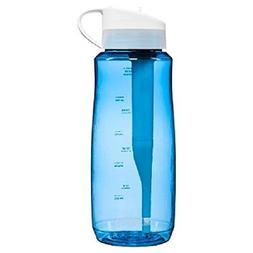 Brita Filtered Water Bottle , Hard Sided, BPA Free, Blue, 34