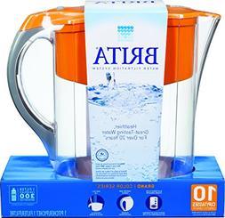 Brita Grand Water Filter Pitcher, Orange, 10 cups?