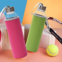 High Temperature Resistant Glass Sport Water Bottle Tea Filt