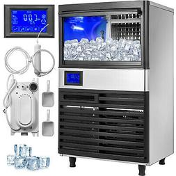 Ice Cube Maker Machine 70Kg/155Lbs Commercial Water Filter R