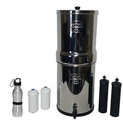 Imperial Berkey Water Filter Premium 4.5 Gallon Bundle: 2 Bl