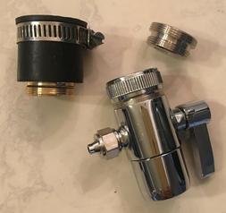 Kitchen Bathroom Sink Faucet Water Filter Diverter Valve Pus