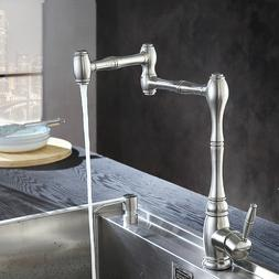 Kitchen Nickel Brushed  Water Filter Tap Stainless Steel Lea