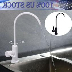 Kitchen Water Filter Faucet Lead-Free Black Stainless Steel