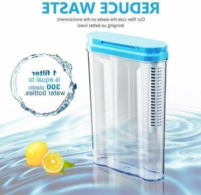1.2L Plastic Jug Water Pitcher+1Filter Fit in refrigerator L