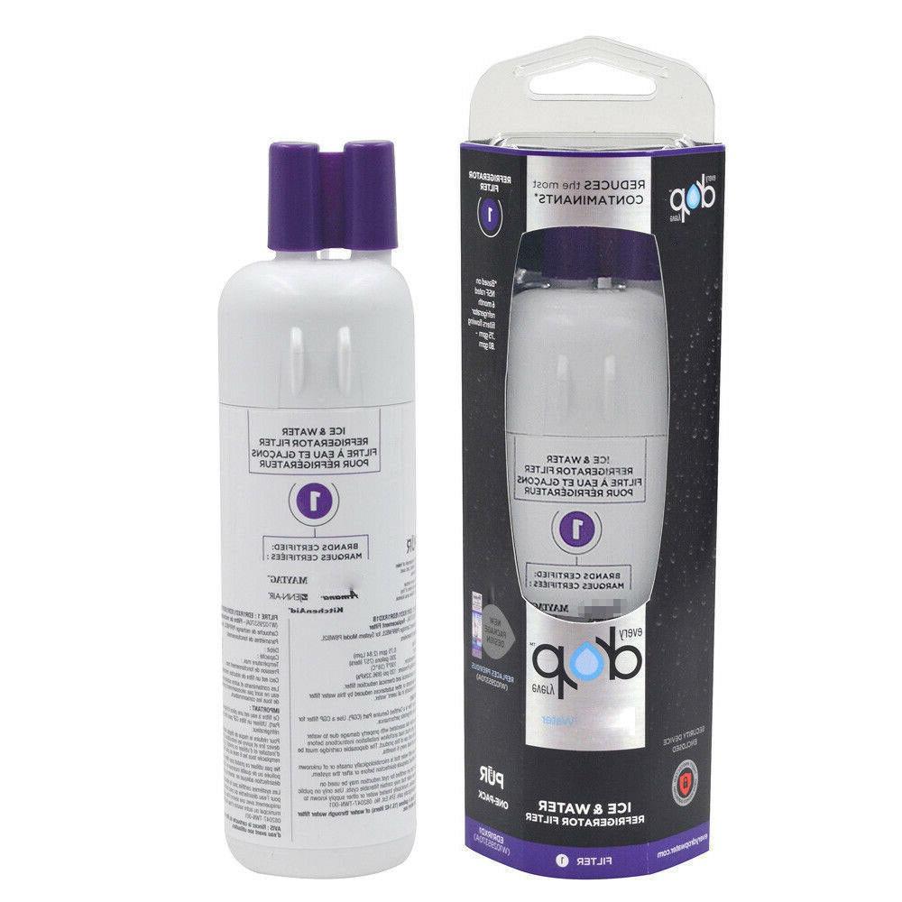 1Pcs Refrigerator Water Filter 1, EDR1RXD1,W10295370A