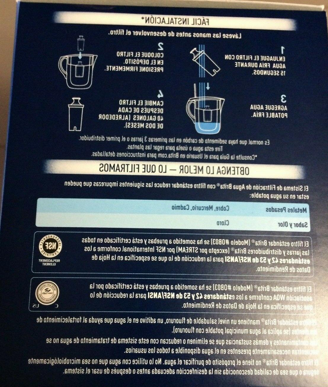 6-Count BRITA Standard Filters Free Pitchers/Dispensers Loc#EB77