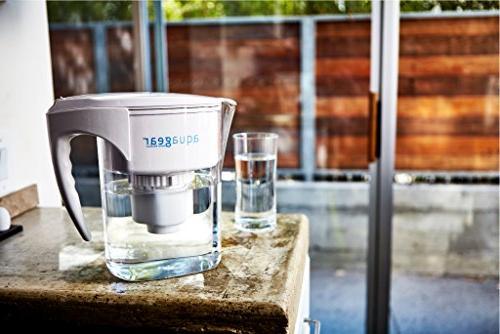 Aquagear Pitcher - Lead, Chloramine, Chromium-6 - BPA-Free, Clear
