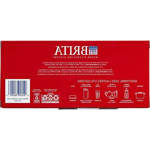 Brita Small 5 Water Filter 1 Standard Filter, BPA Free – Red