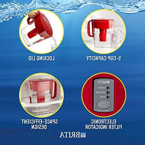 Brita Water Filter Pitcher with 1 Standard Free Metro,