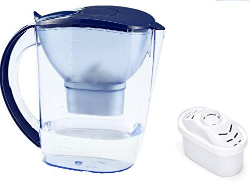 EHM Water Pitcher - 3.5L Pure Water With Activated Filter - Clean Toxin-Free Alkaline In Minutes - 8.5 - 2019