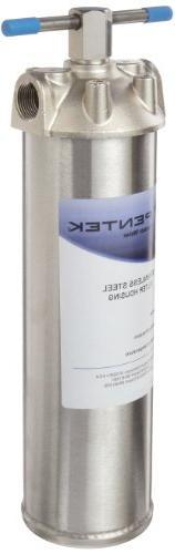 """Pentek 156017-02 ST-1 3/4"""" Stainless Steel Filter Housing"""