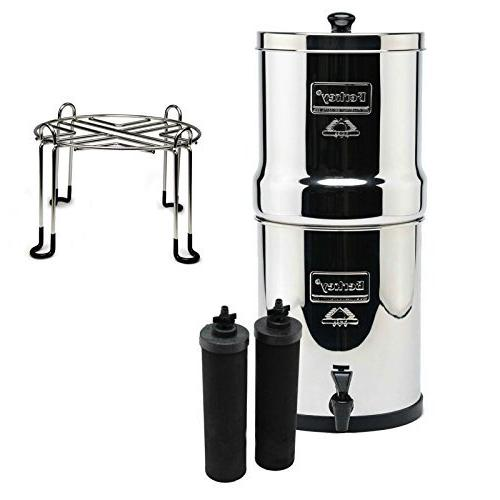 Royal Berkey Stainless Steel Water Filtration System with 2