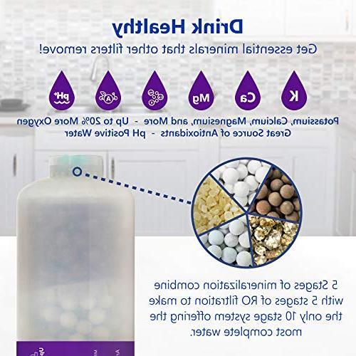 Express Filter 2 Mineral, Antioxidant, 10 Quick Connect Under Sink System
